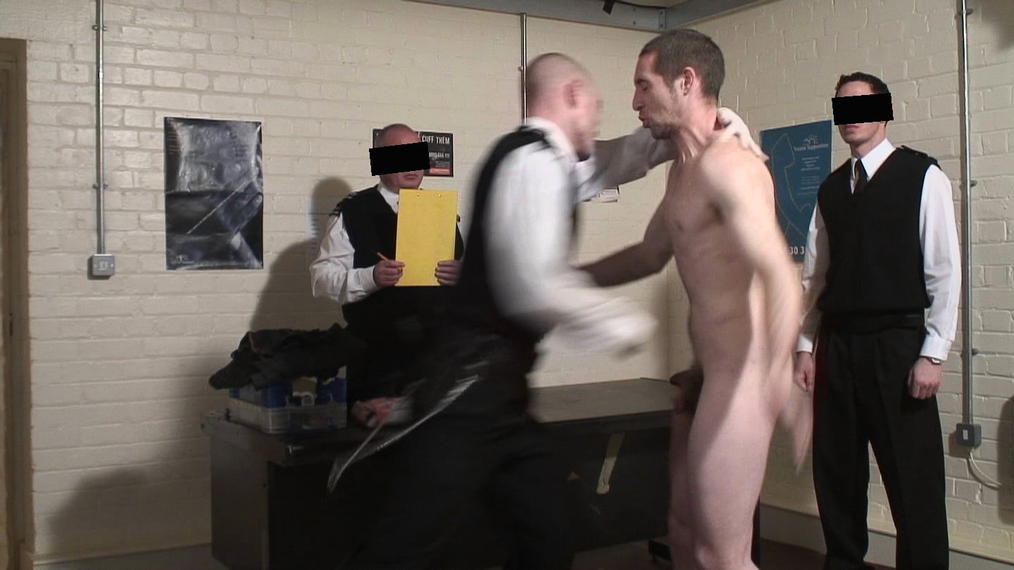 Male prison strip search