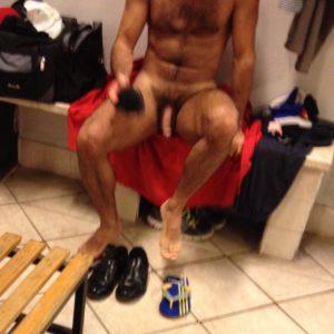 naked in the locker room