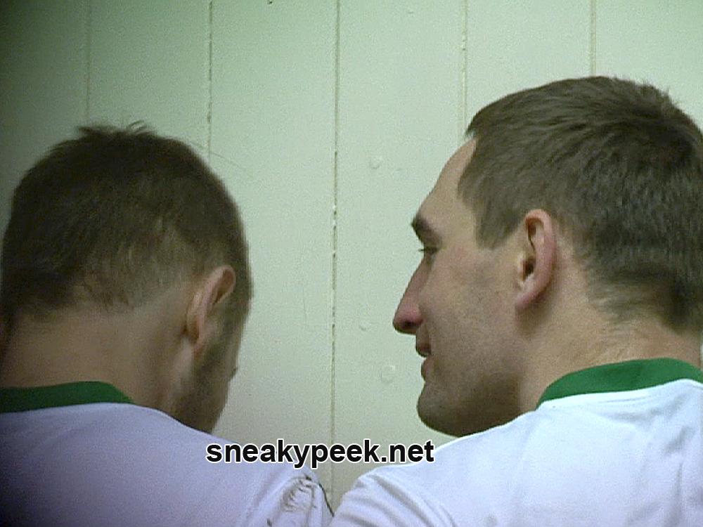 footballers in the locker room