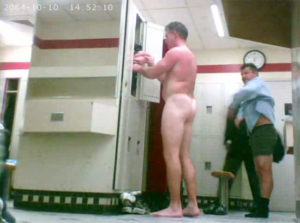in the locker room
