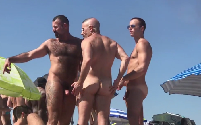 fondling at the beach