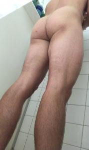 jock in the shower