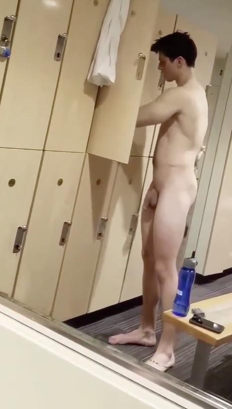 Jock in the locker room