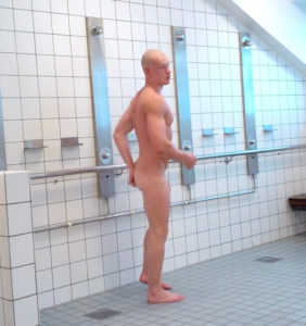Coming in and out of the shower room