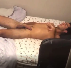 Caught wanking off