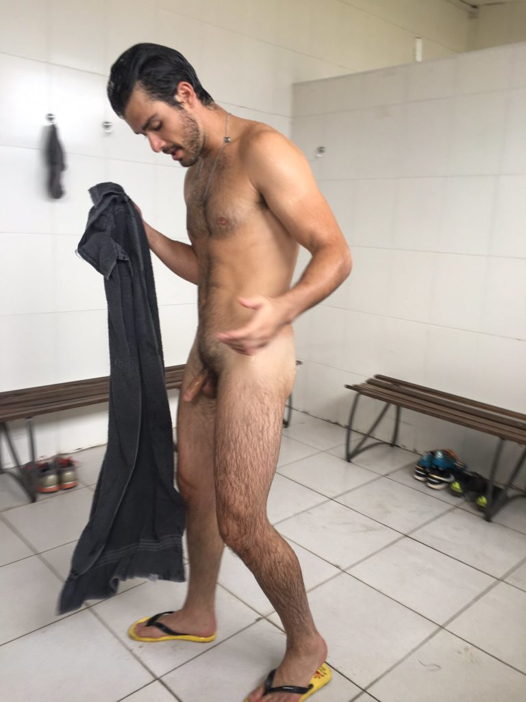 naked out of the shower room