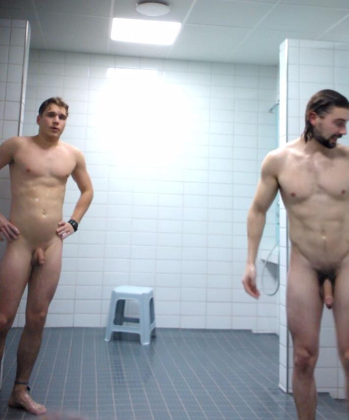 big uncut cock in the shower room