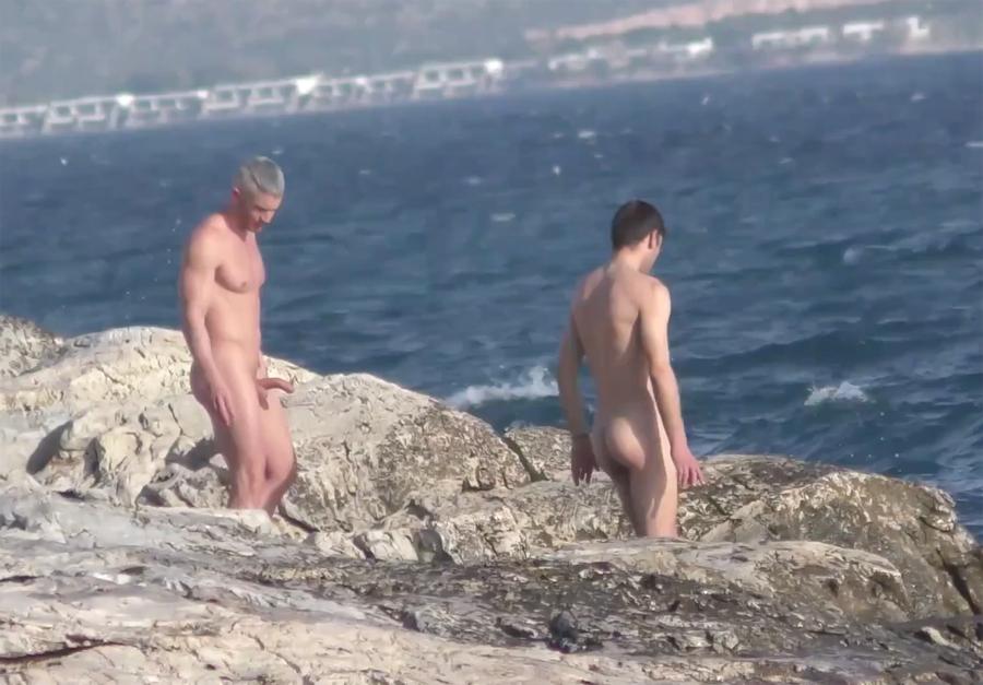 naked boys at the beach